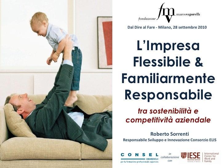 Impresa Flessibile e Familiarmente Responsabile (dati IFREI 2010) workshop bocconi_28settembre_ver.1
