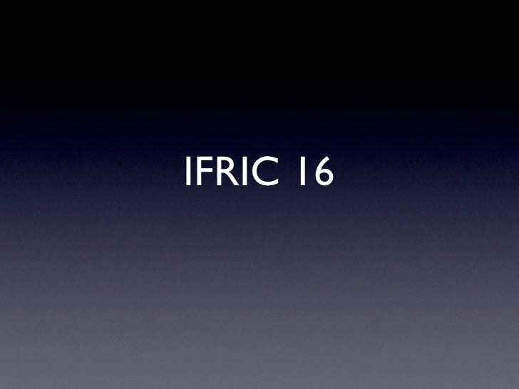 IFRIC 16