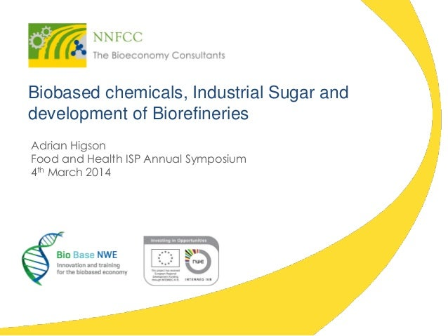 Biobased chemicals, Industrial Sugar and development of Biorefineries Adrian Higson Food and Health ISP Annual Symposium 4...