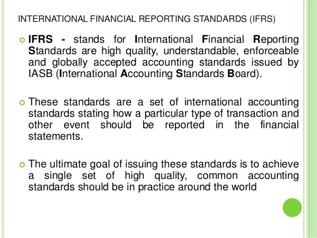 effects of ifrs The convergence between us gaap and ifrs on financial statement  whether  the effects of adoption and convergence on comparability might differ.