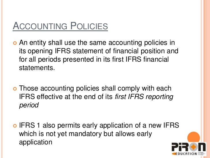 ifrs - problems and challenges in first time adoption essay The author will also be discussing the most significant challenges of the adoption  regulatory framework for financial reporting  first major adoption of ifrs.