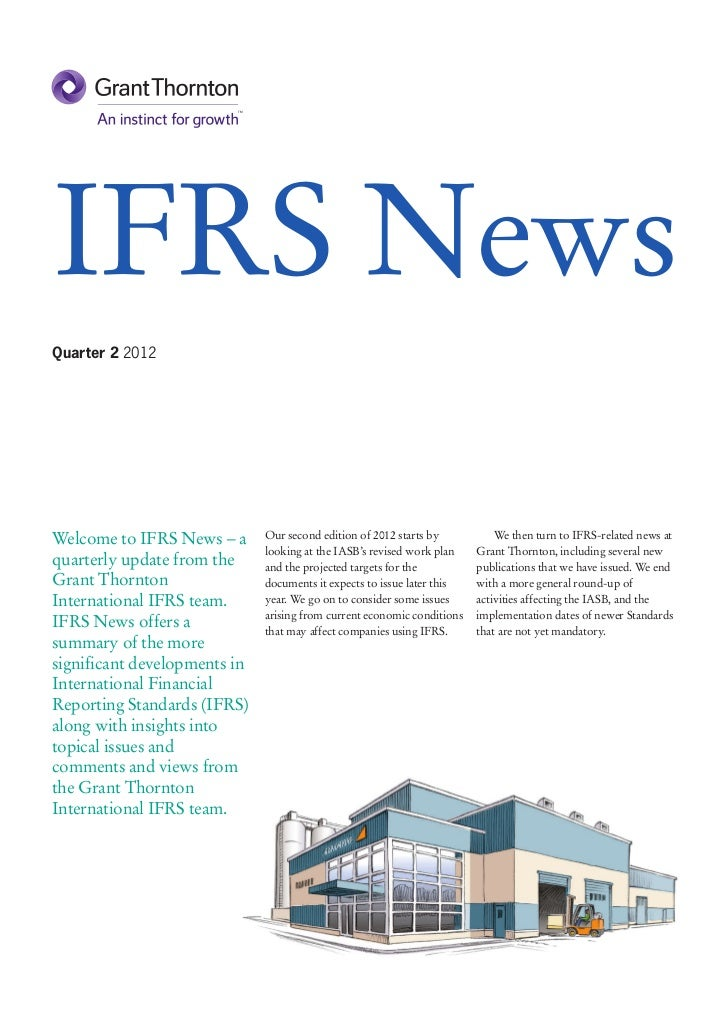 IFRS NewsQuarter 2 2012Welcome to IFRS News – a      Our second edition of 2012 starts by           We then turn to IFRS-r...