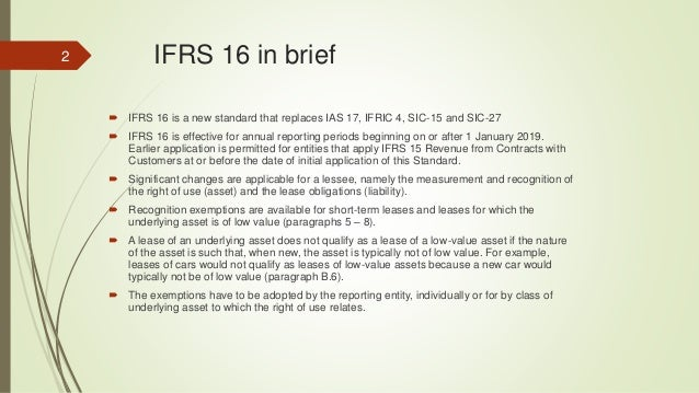 Ifrs 16 Working Paper