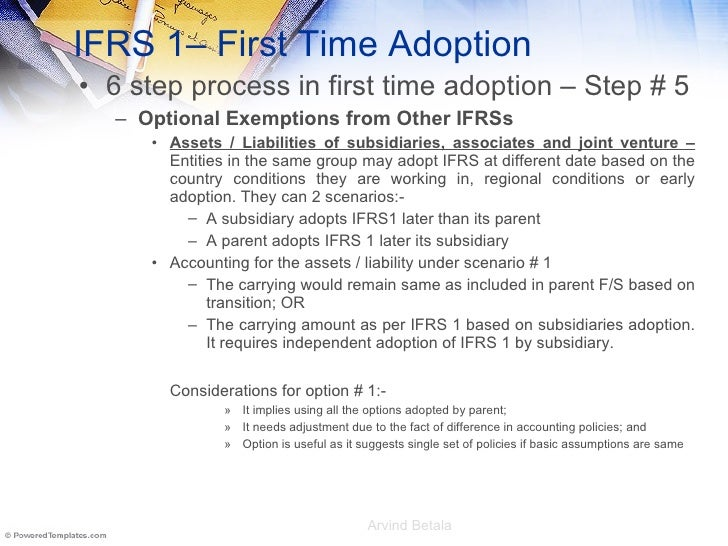 Ifrs1 script beneath the story for Ifrs conversion template