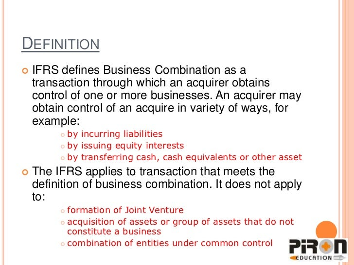 business combination Business combinations (topic 805) no 2014-18 december 2014 accounting for identifiable intangible assets in a business combination a consensus of the private company council.