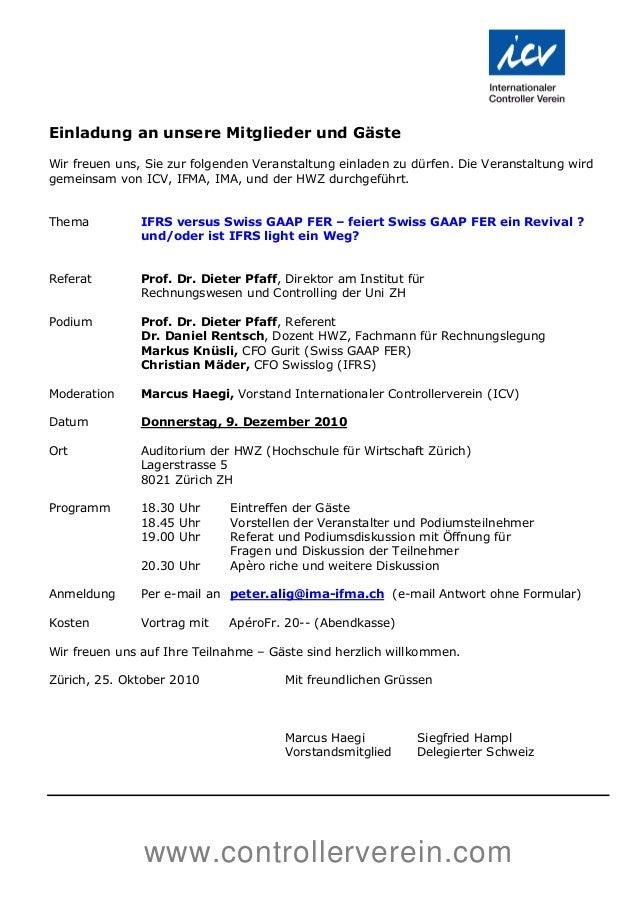 www.controllerverein.com Einladung an unsere Mitglieder und Gäste Wir freuen uns, Sie zur folgenden Veranstaltung einladen...