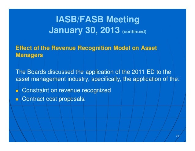 impact of fasb and iasb The iasb issued their standard (ifrs 16) on january 13, 2016 and the fasb issued it's new standard (asc 842) on february 25, 2016 the iasb's effective date is 2019, while the fasb's effective dates are 2019 for public companies and 2020 for non-public companies.