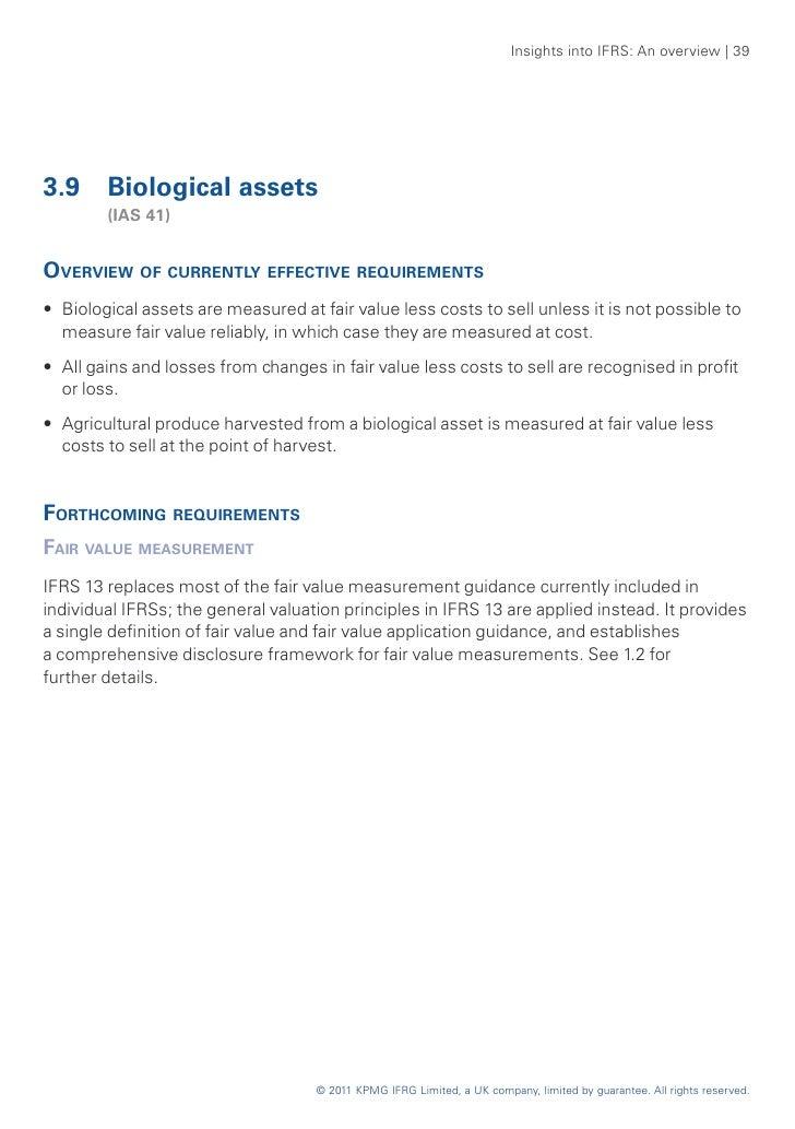 Self liquidating asset definition ifrs