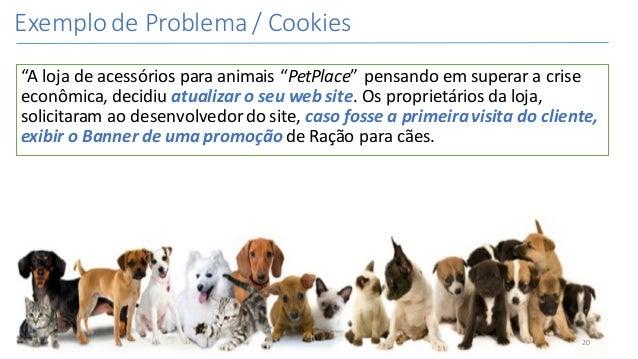 "ExemplodeProblema/Cookies ""Alojadeacessóriosparaanimais""PetPlace""pensandoemsuperaracrise econômica,decidi..."