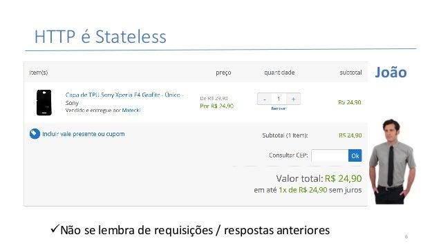 HTTPé Stateless üNãoselembraderequisições/respostasanteriores João 6