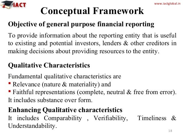 a concepts and central objectives of financial reporting Accountability and the objective of financial reporting  this view, and whether it  is adequately reflected in the iasb's conceptual framework  however, at a  more general level, financial reporting is a central part of, and not.