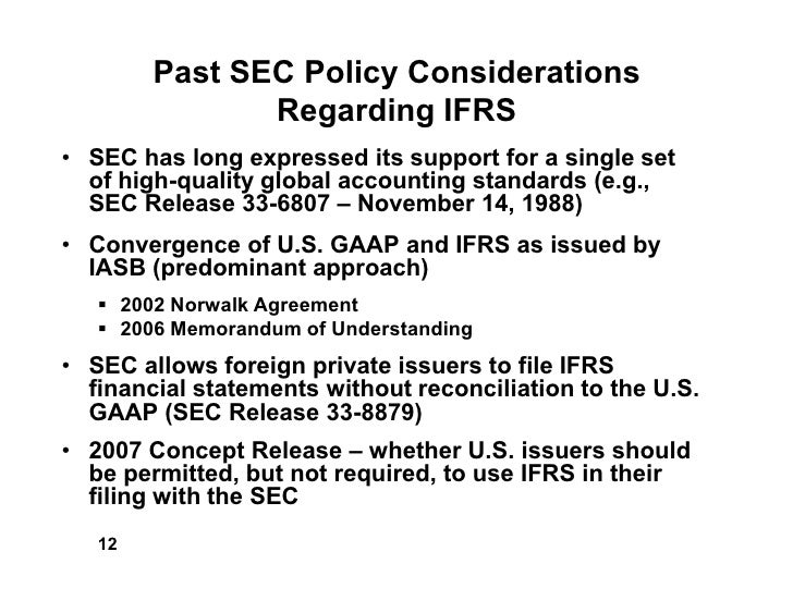 convergence of ifrs and us gaap