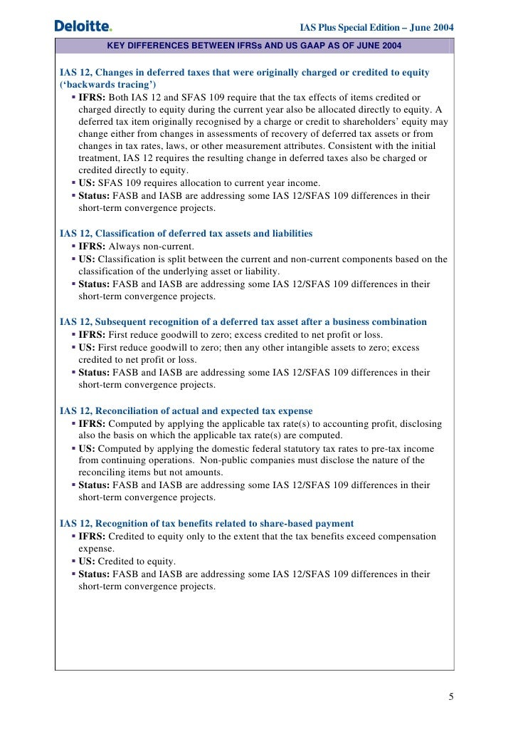 ifrs vs us gaap Overview of ifrs/us gaap differences napco conference • international financial reporting standards overview of ifrs vs us gaap differences.