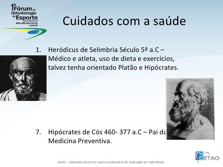 História da Odontologia do Esporte Slide 3