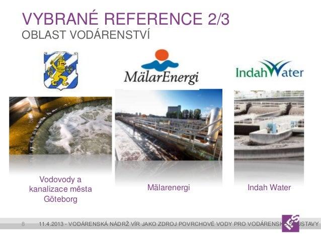 VYBRANÉ REFERENCE 2/3OBLAST VODÁRENSTVÍ      Vodovody a    kanalizace města                 Mälarenergi                   ...