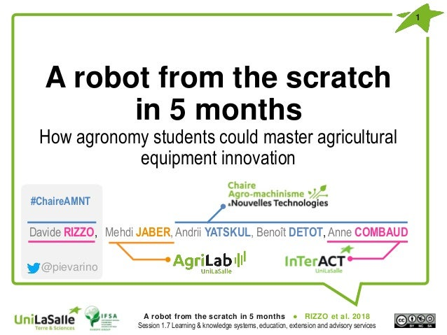 A robot from the scratch in 5 months  How agronomy students