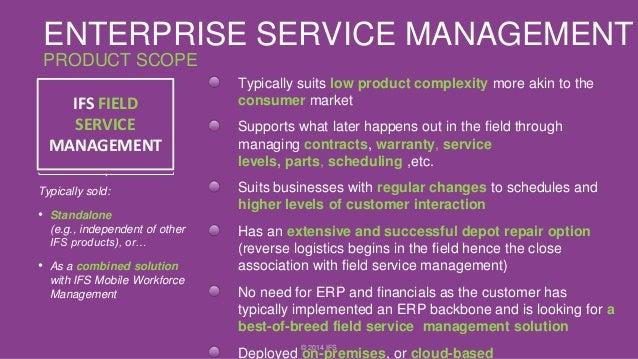 Ifs Enterprise Service Management Esm Overview
