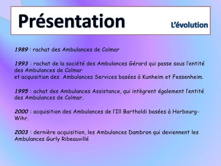 présentation ambulance groupe gurly Slide 3