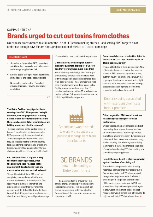 PAGE 18 It'smuchbettertoswitchtotoxic-freeproduction. Ultimately, you are calling for outdoor brands to eliminate the use ...
