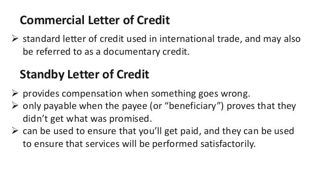 commercial letter of credit