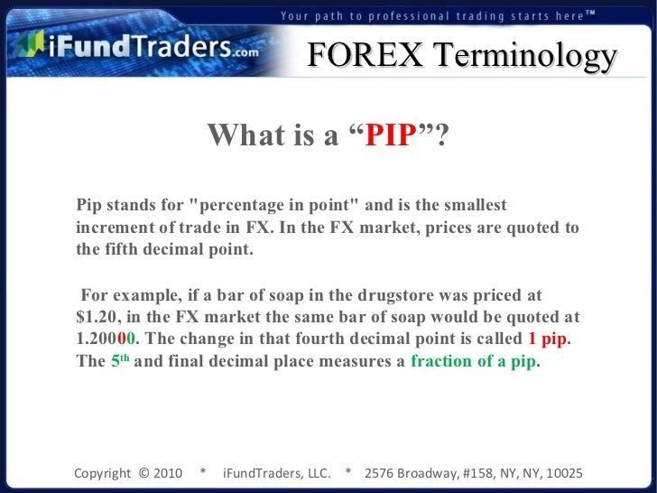 Pip stands for in forex