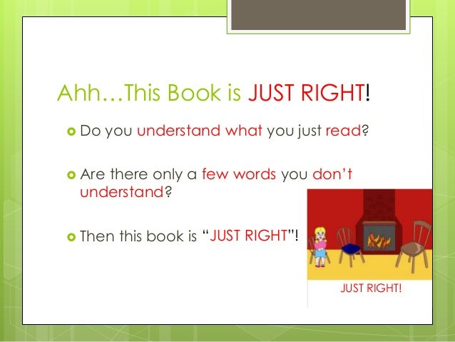 how to choose a just right book