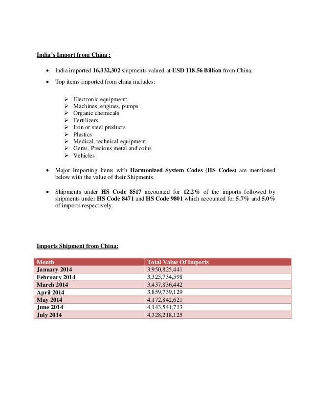 iNDO CHINA TRADE RELATION REPORT