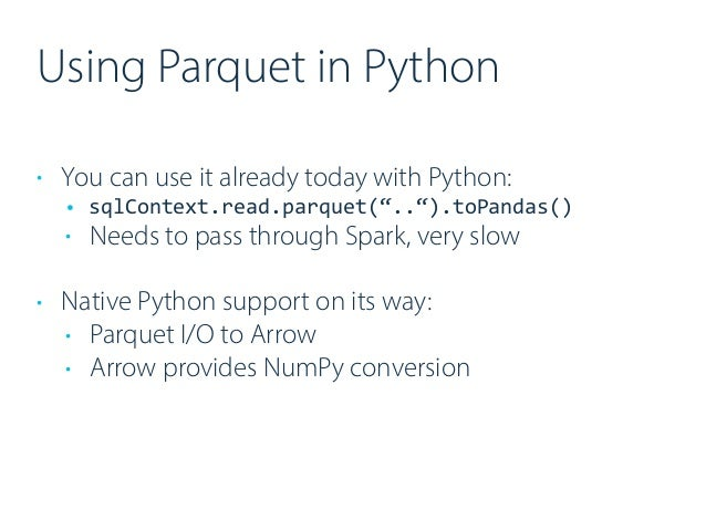 How Apache Arrow and Parquet boost cross-language