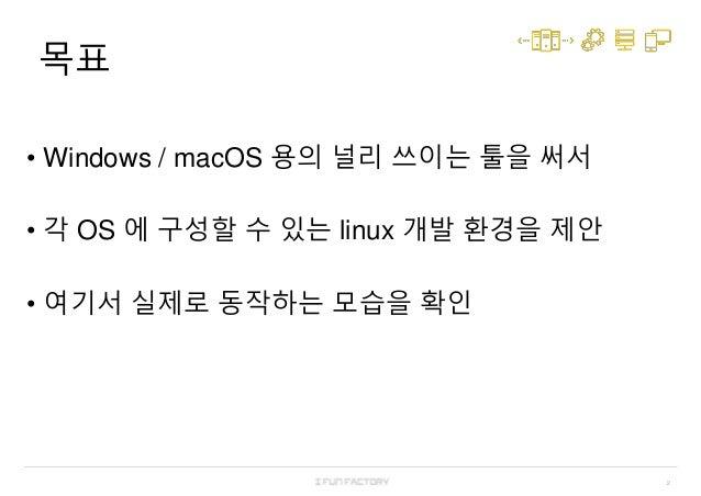 Docker 로 Linux 없이 Linux 환경에서 개발하기 Slide 2