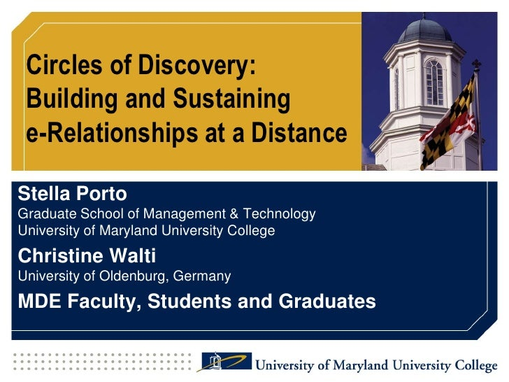 IFWE'2010 - Circles of Discovery: Building and Sustaining e-Relationships at a Distance