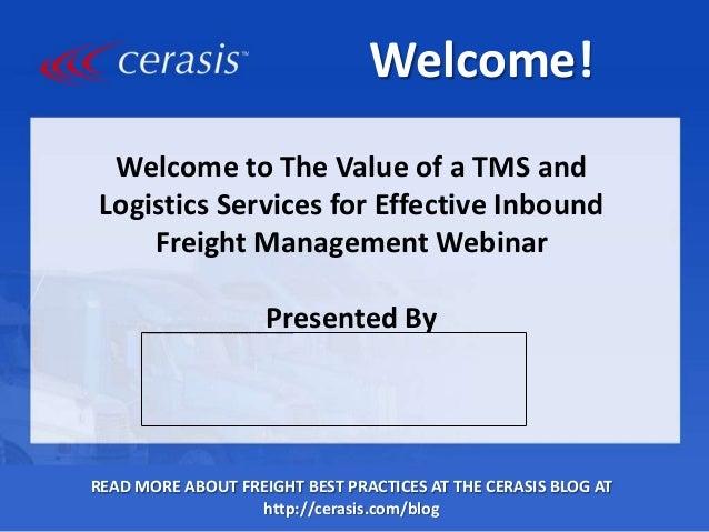 Inbound Logistics: The Power of a Transportation Management