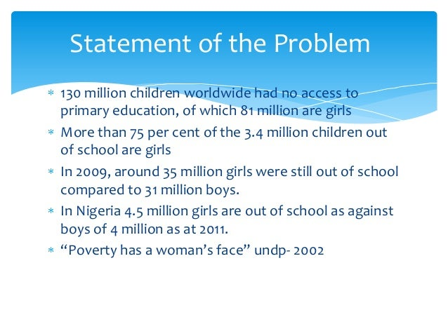 literature review on girl child education in nigeria
