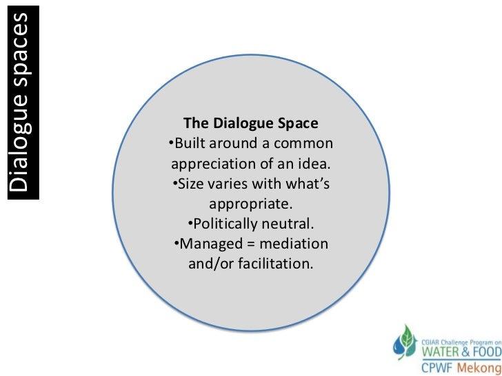 Dialogue spaces                     The Dialogue Space                  •Built around a common                  appreciati...