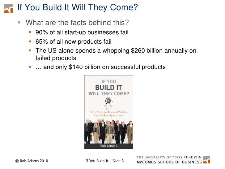 If You Build It Will They Come Presentation for IBM October 10 2010 Slide 3