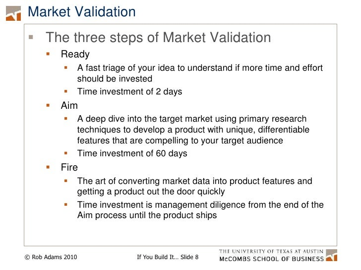 Market Validation<br />The three steps of Market Validation<br />Ready<br />A fast triage of your idea to understand if mo...