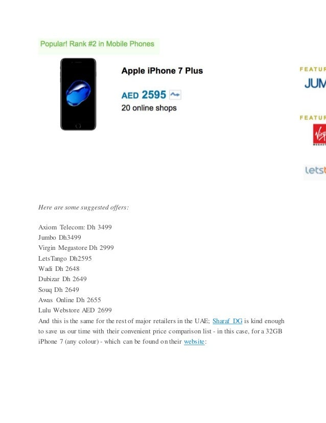 Planning to buy an iPhone 7? Here are best deals in UAE