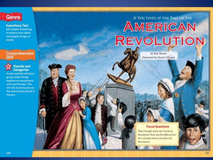 ...If You Lived At the Time of the American Revolution