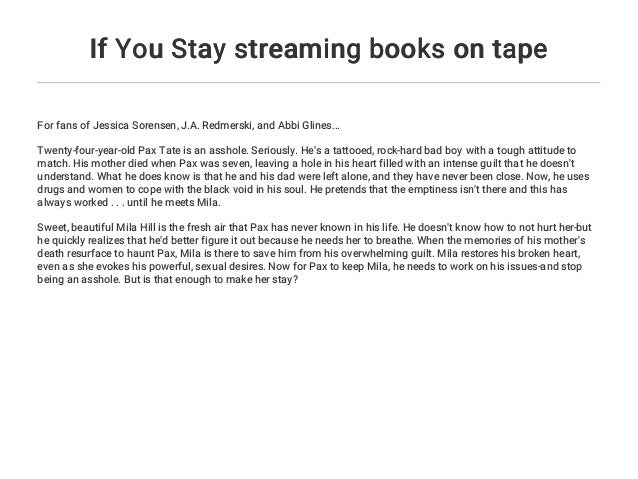 If You Stay Streaming Books On Tape