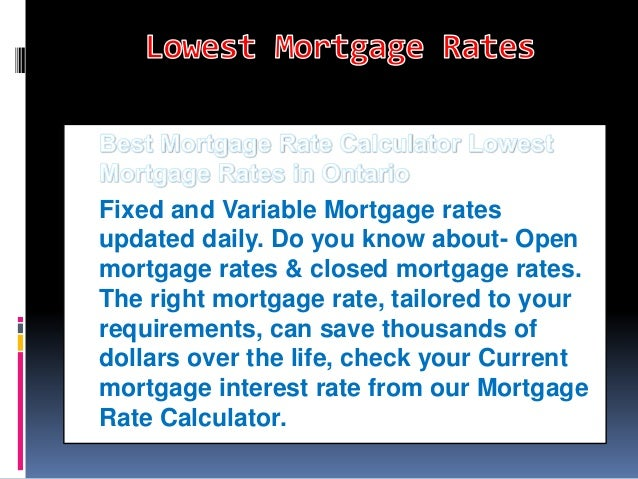 Mortgage Rates Alberta