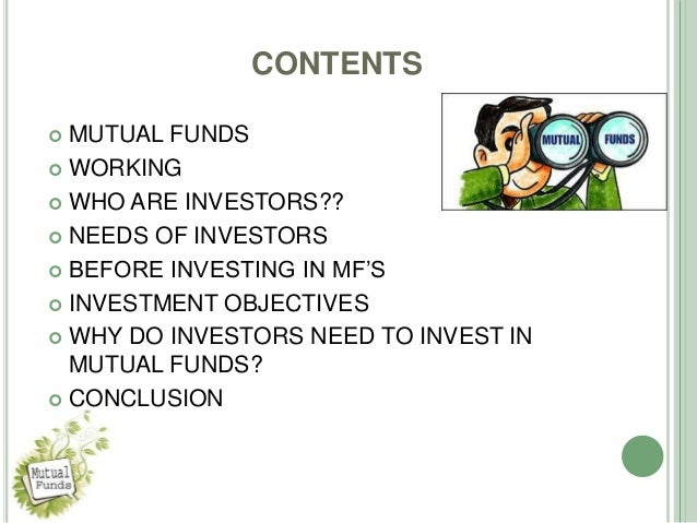 Mutual Fund Investment Objectives | Ally