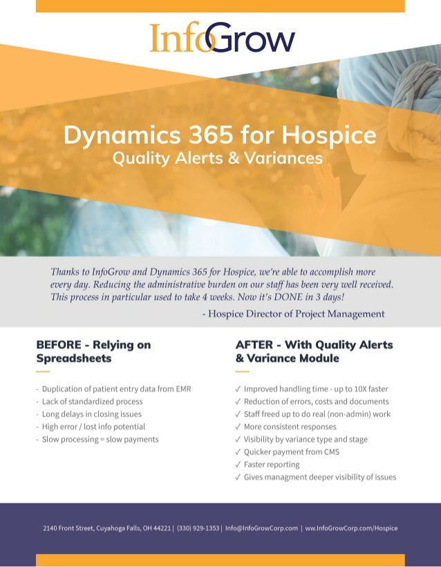 Hospice - Quality Alerts & Variance