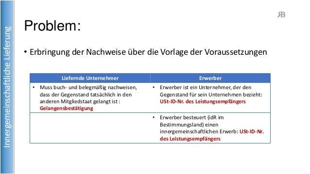 Buch Und Belegnachweis Bei Innergemeinschaftlichen Lieferungen Ab 01