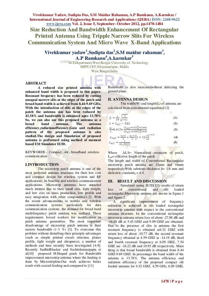 Vivekkumar Yadaw, Sudipta Das, S.M Maidur Rahaman, A.P Ramkanu, A.Karmkar /  International Journal of Engineering Research...