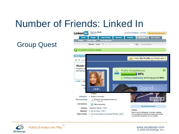 Number of Friends: Linked In Group Quest