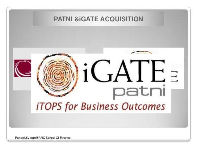 igate and patni deal