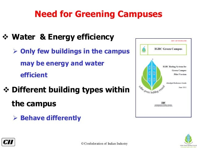 Indian Green Building Council Green Campus Rating System   Slide 3