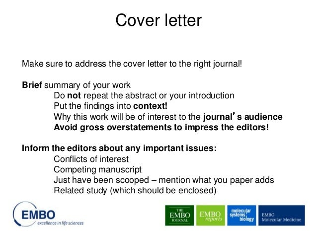 journal cover letters