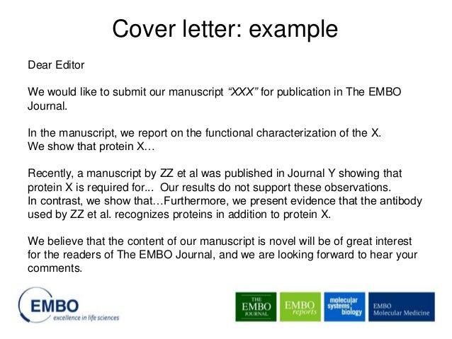 journal cover letter sample