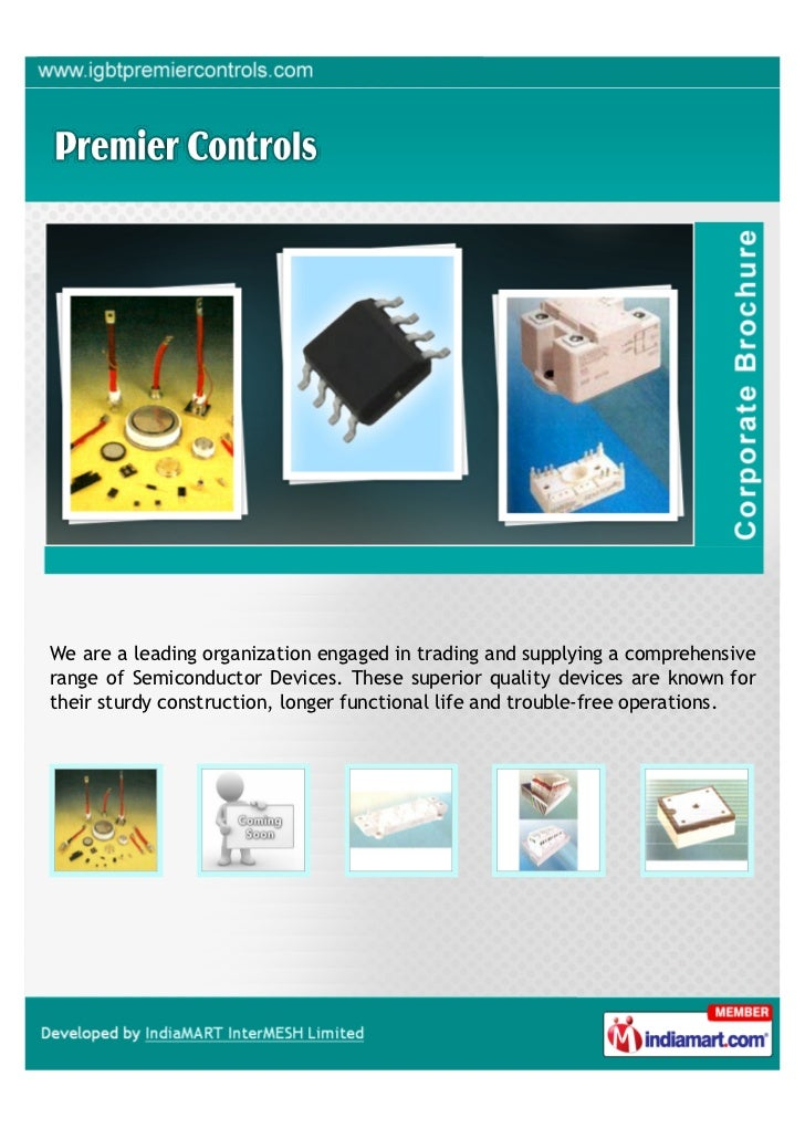 We are a leading organization engaged in trading and supplying a comprehensiverange of Semiconductor Devices. These superi...