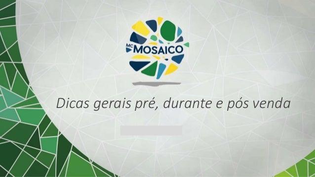 Subtítulo opcional Dicas gerais pré, durante e pós venda